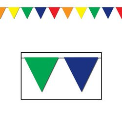Outdoor Pennant Banner (multi-color) Party Accessory (1 count) (1/Pkg) from The Beistle Company