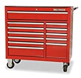 Westward 2CZY1 Rolling Tool Cabinet, 41 In W, 12 Drawer Picture