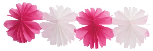 Party Partners Design Magenta Honeycomb Tissue Garland Decoration