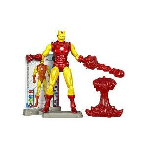 Marvel Iron Man 2 Movie, Iron Man Retro Action Figure #28, 3.75 Inches - 1