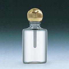 ヤマダアトマイザー パフュームボトル 小ビン 60620 円筒 クリア ゴールド 約4.5ml