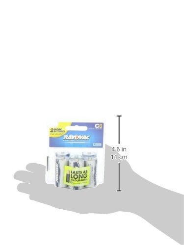 Rayovac Alkaline C Batteries, 814-6RVPTF, 6-pack ag11 lr721w 1 55v alkaline cell button batteries 10 piece pack