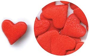 Confetti Jumbo Red Hearts 2.8 oz. CONJRH