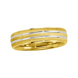 14ct Yellow Gold Design Band Ring - Size U 1/2