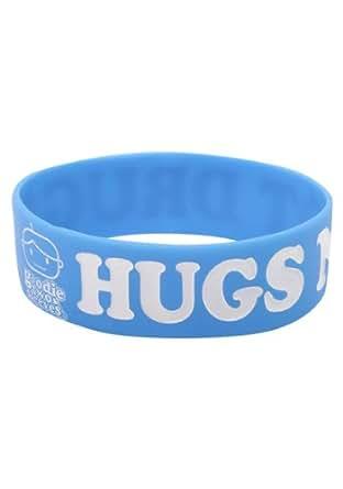 Wristbandz Hugs Not Drugs Wristband BLUE One Size