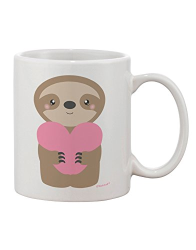 Tooloud Cute Valentine Sloth Holding Heart Printed 11Oz Coffee Mug