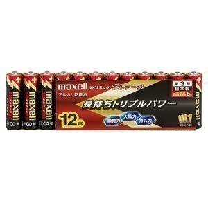 日立マクセル 単3形アルカリ乾電池 12個シュリンク(使用推奨期限5年) LR6(T) 12P