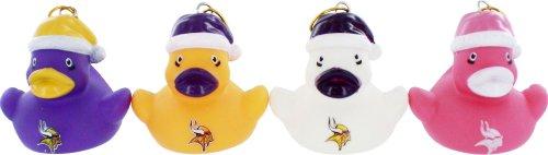 Minnesota Vikings Vinyl Duck Ornament 4 Pack front-506204