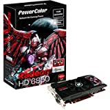 PowerColor ATI Radeon HD6850 1 GB DDR5 2DVI/HDMI/DisplayPort PCI-Express Video Card AX6850 1GBD5-DH