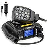 QYT KT-7900D Mini Mobile Transceiver Quad Band 136~174/400~480MHz /220~260MHz/350~390MHz Amateur Car Radio+Programming Cable - Lightwish
