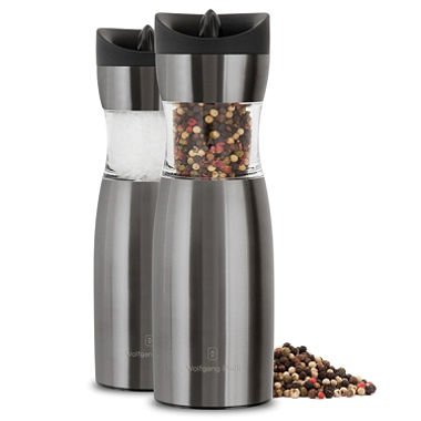 Wolfgang Puck Set Of 2 Gravity Spice Mills - Color: Gunmetal front-392445