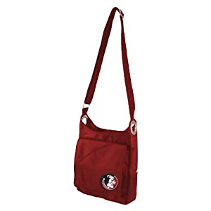 NCAA Florida State Seminoles Ladies Color Sheen Cross Body Purse, Red by Littlearth