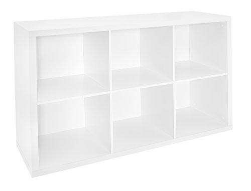 ClosetMaid 1109 Decorative Storage 6 Cube Organizer, White (White Storage Shelves compare prices)