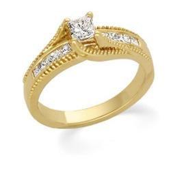 14k Yellow Gold Diamond Bridal Engagement Ring