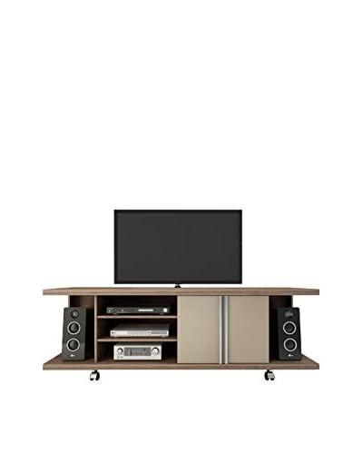 Manhattan Comfort 5-Shelf Carnegie TV Stand, Chocolate