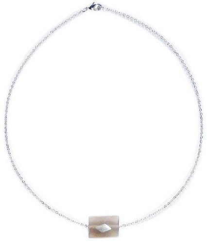 Chalcedony cut with facets Necklace