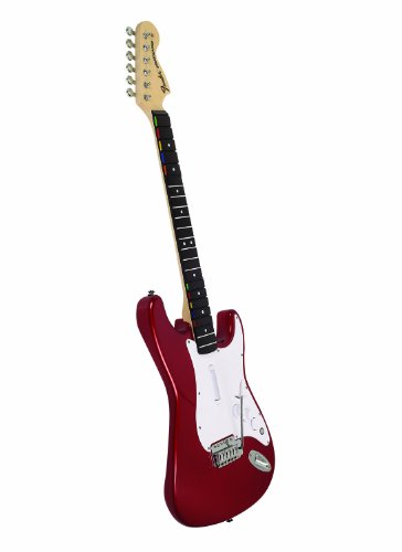 Rock Band Wireless Fender Wooden Stratocaster Replica For Xbox 360 - Candy Apple Red Metallic Finish