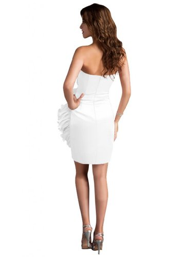 31EN8gOBfTL Sale off: Emma Y Lady Womens Strapless Handmade Flower Short Dress