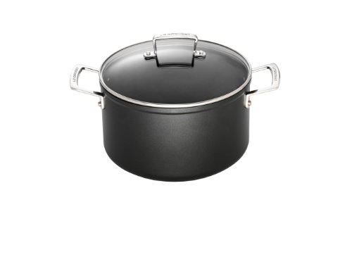 Le Creuset Toughened Nonstick 6 1/3- Quart Stockpot with Glass Lid