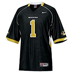 Missouri Mizzou Tigers Licensed Nike Black #1 Jersey by Nike