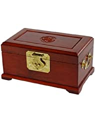 Best Luxury Fine Quality Gift Idea for Her 10 Qing Rosewood Oriental Jewelry Box w  Long Life Shou Symbol