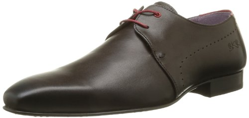 BKR Men's Sato Lace-Up Flats Brown Marron (Vitelo Moro) 7 (41 EU)