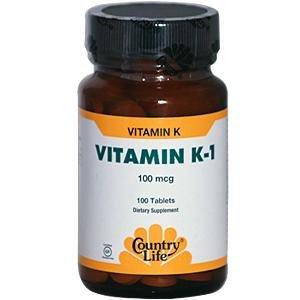 Gluten Free, Vitamin K-1, 100 mcg, 100 Tablets