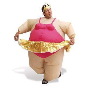 Inflatable Ballerina Fancy Dress Costume/Suit/Outfit