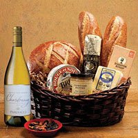 Taste Of Sf Gift Basket With Parducci Chardonnay Wine. 533
