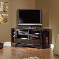 Sauder Harbor View Corner Tv Stand In Antiqued Paint back-816202