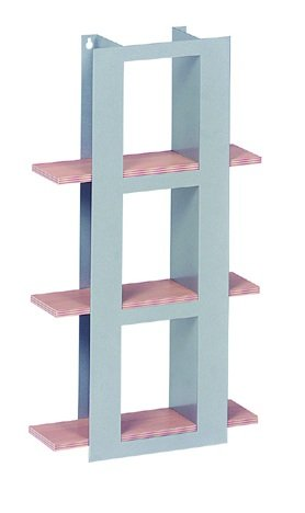 Aluminium and Beech Finish DVD Rack Shelf Storage Unit