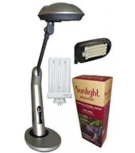 sunlight desk lamp natural full spectrum sun light simulates daylight. Black Bedroom Furniture Sets. Home Design Ideas
