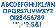 Blue Sparkle 1 inch STICK-EZE Letters