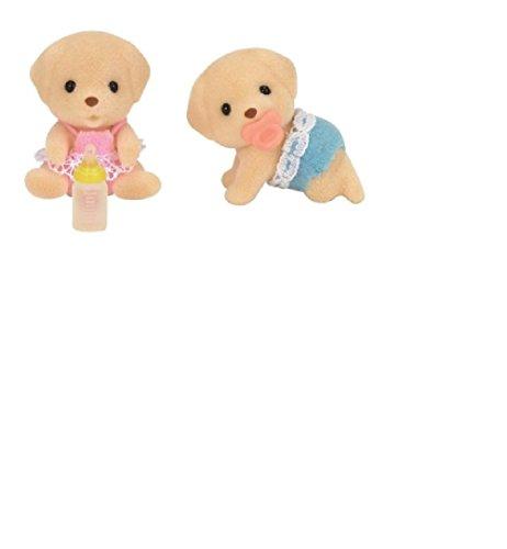 Toys - Sylvanian Families - Yellow Labrador Twins - Epoch - 1