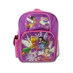 Disney Fairies Tinkerbell Backpack - Purple Large Cargo Backpack by Disney