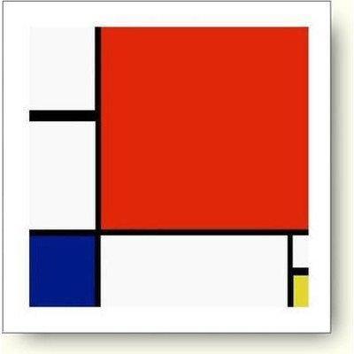 ピエト モンドリアン 赤 青および黄のコンポジション 1930年 アートポス...