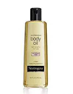 Neutrogena Body Oil, Light Sesame Formula, Fragrance Free, 8.5 Ounce