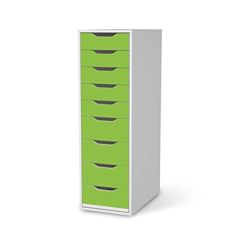 Klebefolie-Sticker-Aufkleber-fr-IKEA-Alex-Schreibtisch-9-Schubladen-Mbel-verschnern-Designfolie-Mbelfolie-Wohnen-Dekorieren-Schlafzimmer-Dekoration-DIY-Farbe-Hellgrn-2