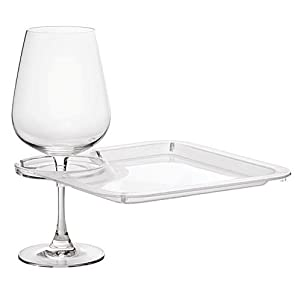 Acrylic Buffet & Party Plate with Built-In Stemware Holder - Set of 4 by Epic