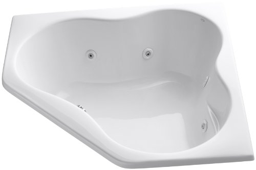 Kohler K-1154-Cc-0 Corner Whirlpool, White