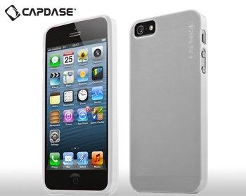 【極薄 0.75mm】CAPDASE 日本正規品 iPhone5 Soft Jacket XPOSE Lamina クリアーホワイト (液晶保護シート、スタンド、ポーチ 付属) SJIH5-L202