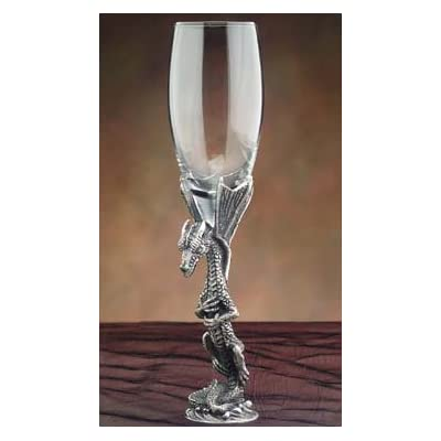 Pewter dragon champagne glass wine goblets champagne glasses - Pewter dragon goblet ...