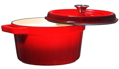 Bruntmor, Enameled Cast Iron Dutch Oven Casserole Dish 6.5 quart Large Loop Handles & Self-Basting Condensation Ridges On Lid (Cast Iron Dutch Oven 12 Qt compare prices)