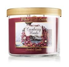 Bath and Body Works Cranberry Woods scented, 14.5 oz, 3 wicked candle