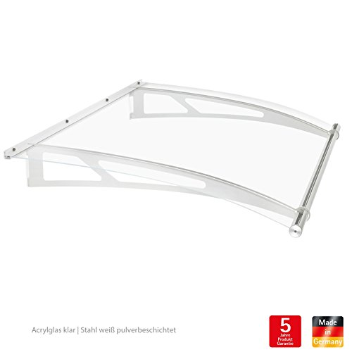 Vordach-Haustr-berdachung-205-x-142-cm-Acrylglas-Edelstahl-Pultvordach-Schulte-XL
