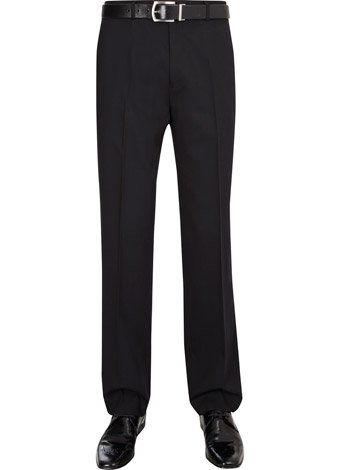 Austin Reed Regular Black High Twist Trousers SHORT MENS 32