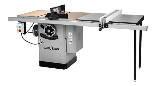 Steel City Tool Works 35640 3HP 10-Inch Deluxe Titanium Table Saw with 50-Inch Industrial Fence and Rail