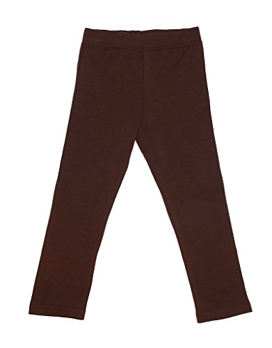 leveret-solid-girls-legging-brown-8-years