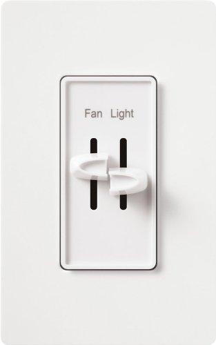 Lutron S2-Lf-Wh Skylark Dual Fan/Light White White