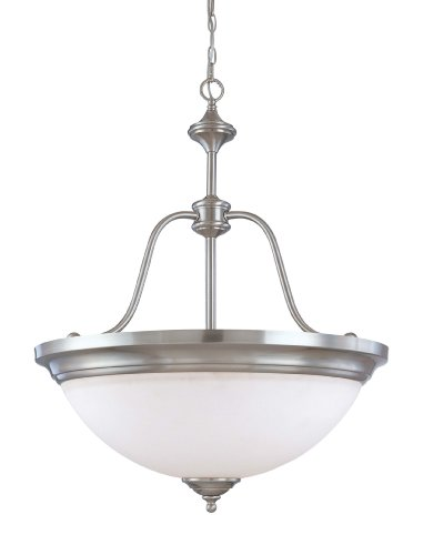 Nuvo 60/2561 Glenwood Large 4-Light Pendant Energy Star, Brushed Nickel